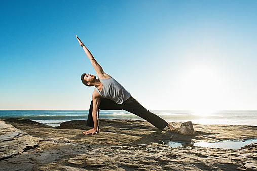 Extended Side Angle Pose - Utthita Parsvakonasana, Windansea beach, La Jolla, California