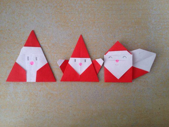 かわいいサンタクロースを折り紙で!!簡単な作り方は