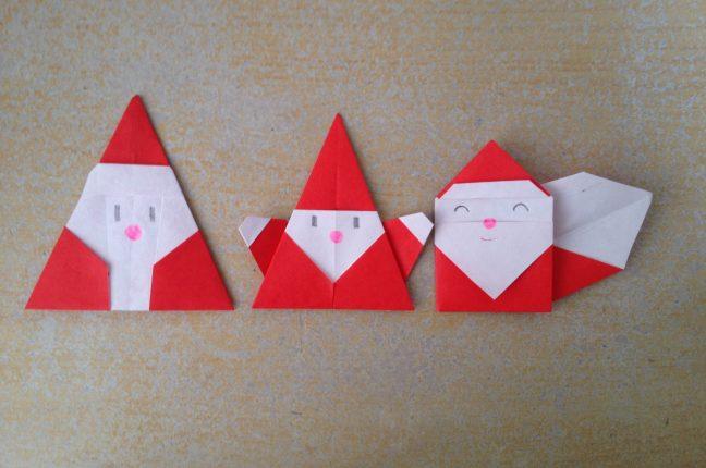 簡単 折り紙:サンタクロース 折り紙 簡単-poccyary.com