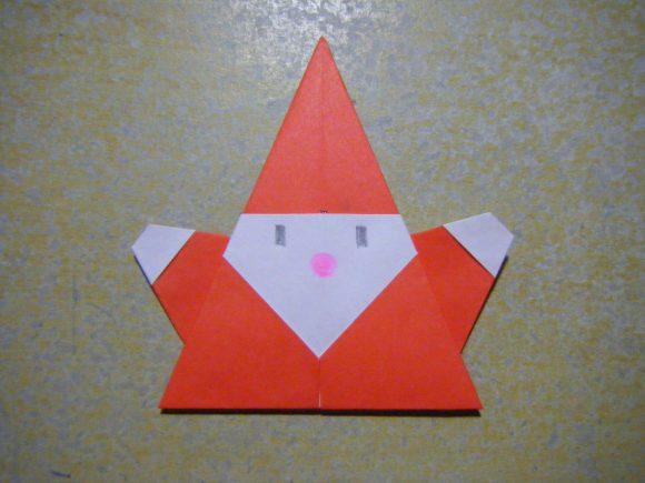 クリスマス 折り紙:折り紙サンタクロース簡単-poccyary.com